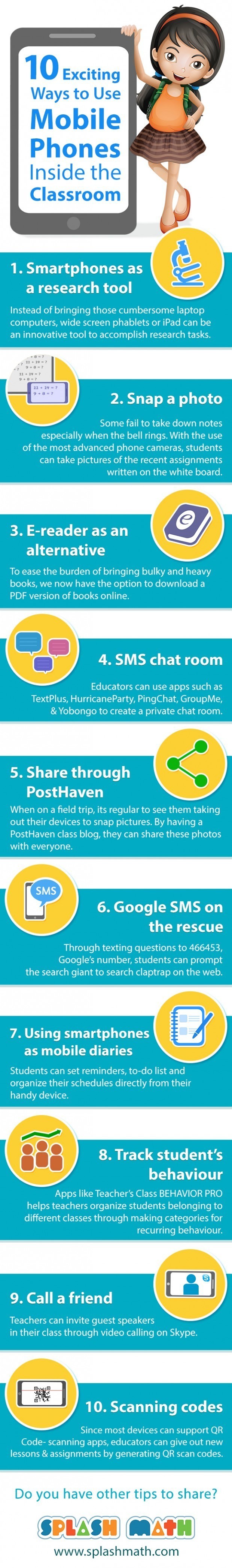 10 Exciting Ways to Use Mobile Phones In the Classroom Infographic