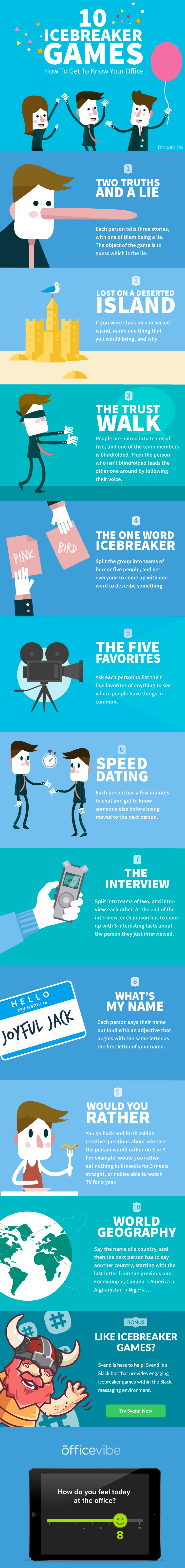 10 Icebreaker Office Games Infographic
