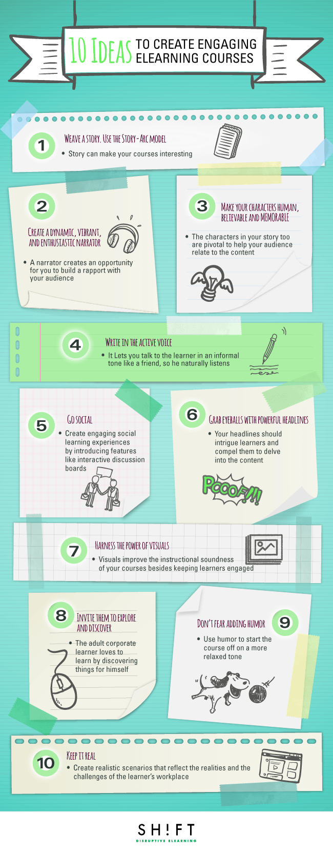 10 Ideas to Create Engaging eLearning Courses Infographic ...