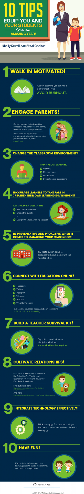 10 Tips for an Amazing School Year Infographic