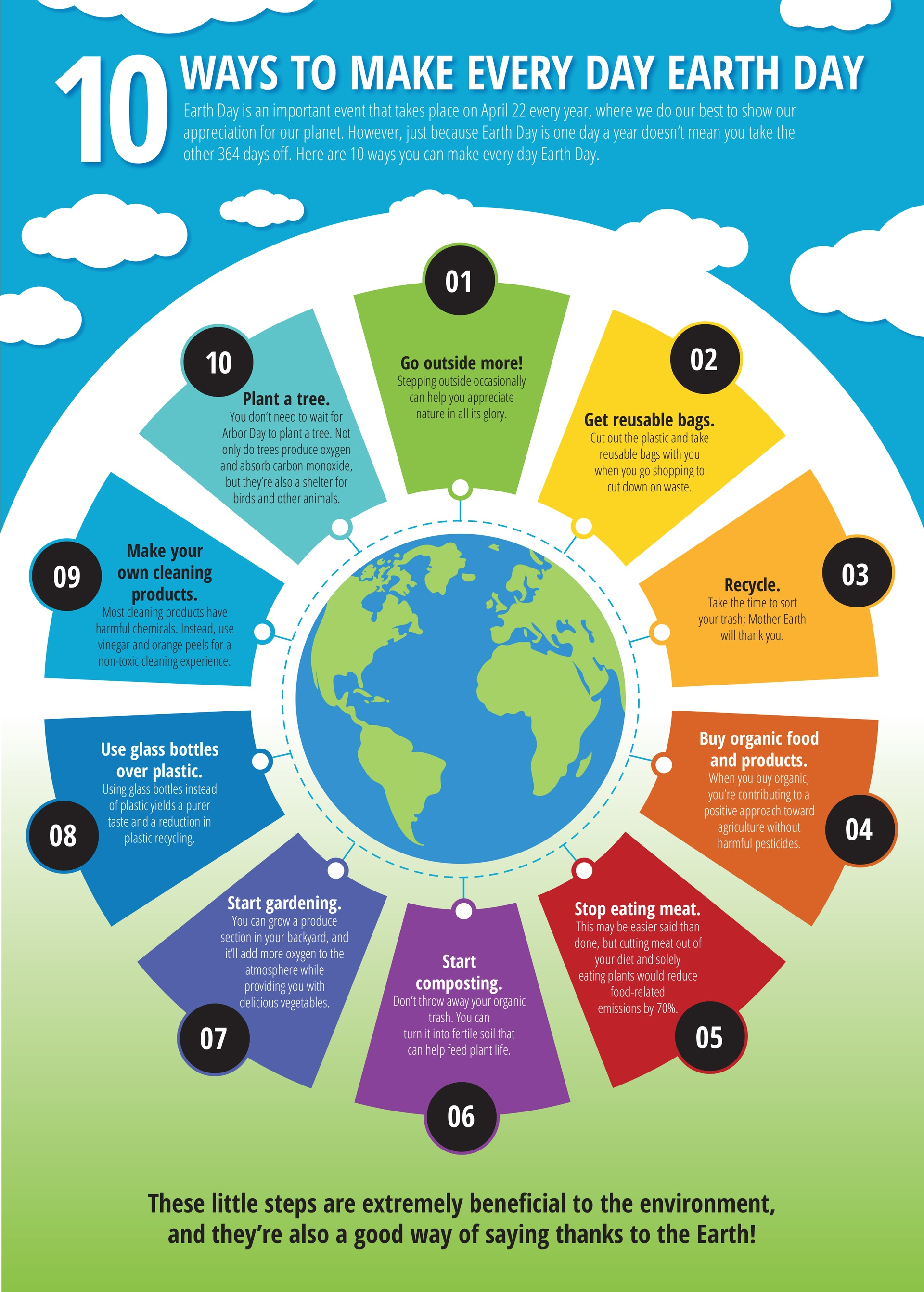 10 Ways To Make Everyday Earth Day Infographic E