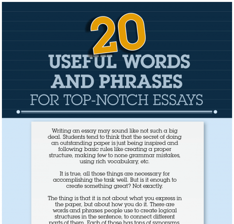 useful words and phrases for top notch essays infographic   e   useful words and phrases for top notch essays infographic   e learning  infographics