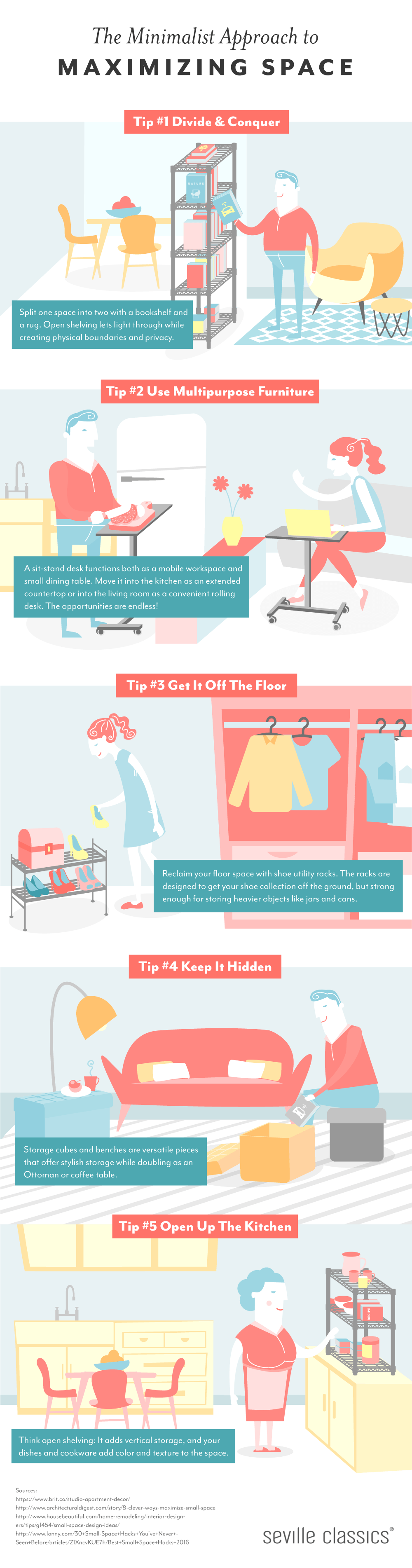 The Minimalist Approach to Maximizing Space Infographic