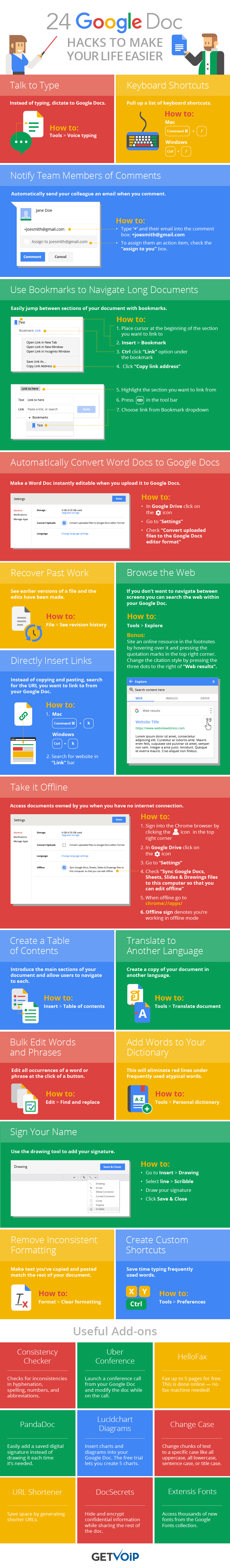 24 Google Doc Hacks to Make Your Life Easier Infographic24 Google Doc Hacks to Make Your Life Easier Infographic