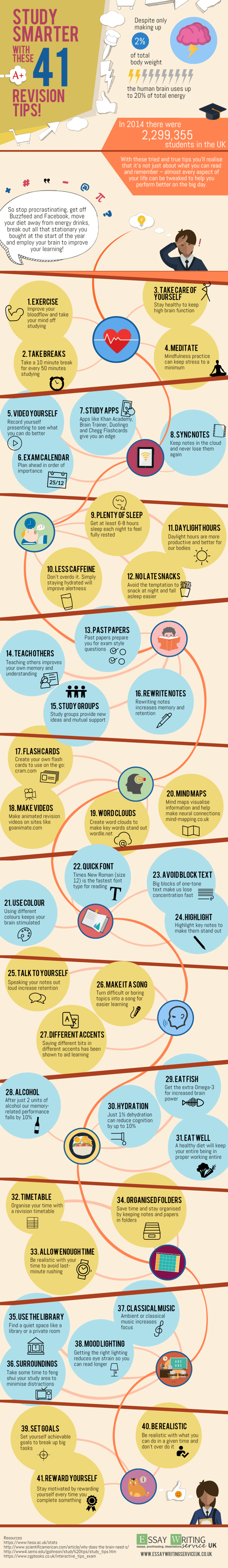 41 Revision Tips to Study Smarter Infographic