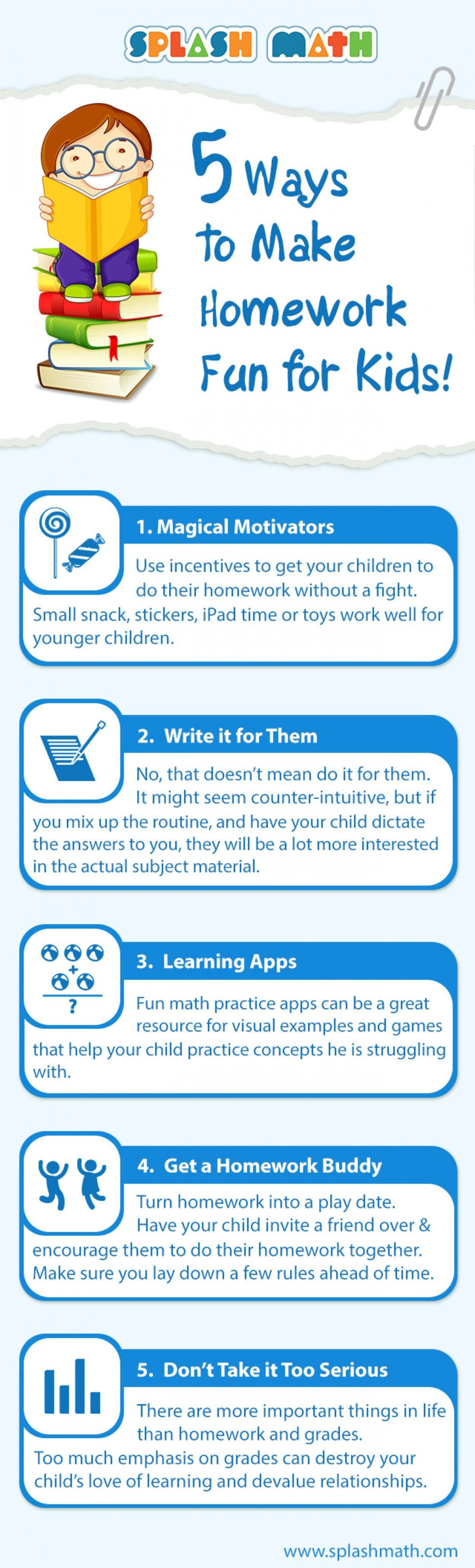 How to Motivate Your Child to do #Homework & Other #Chores
