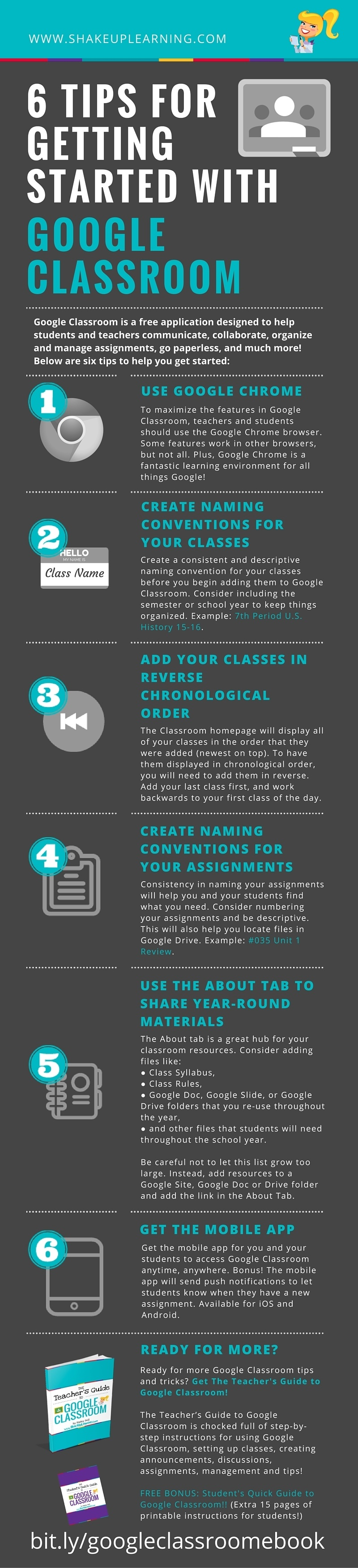 6 Tips for Getting Started with Google Classroom Infographic