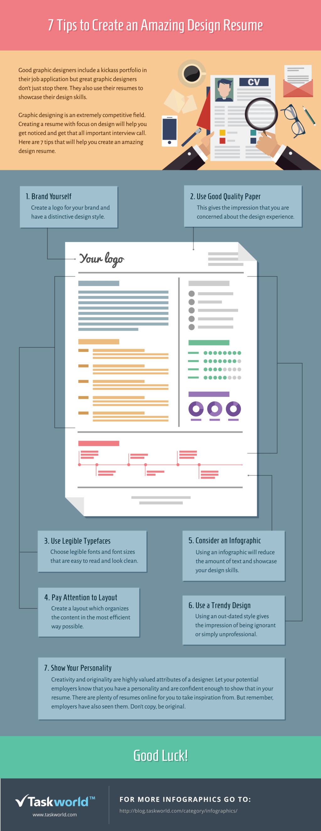 7 Tips To Create An Amazing Design Resume Infographic E Learning