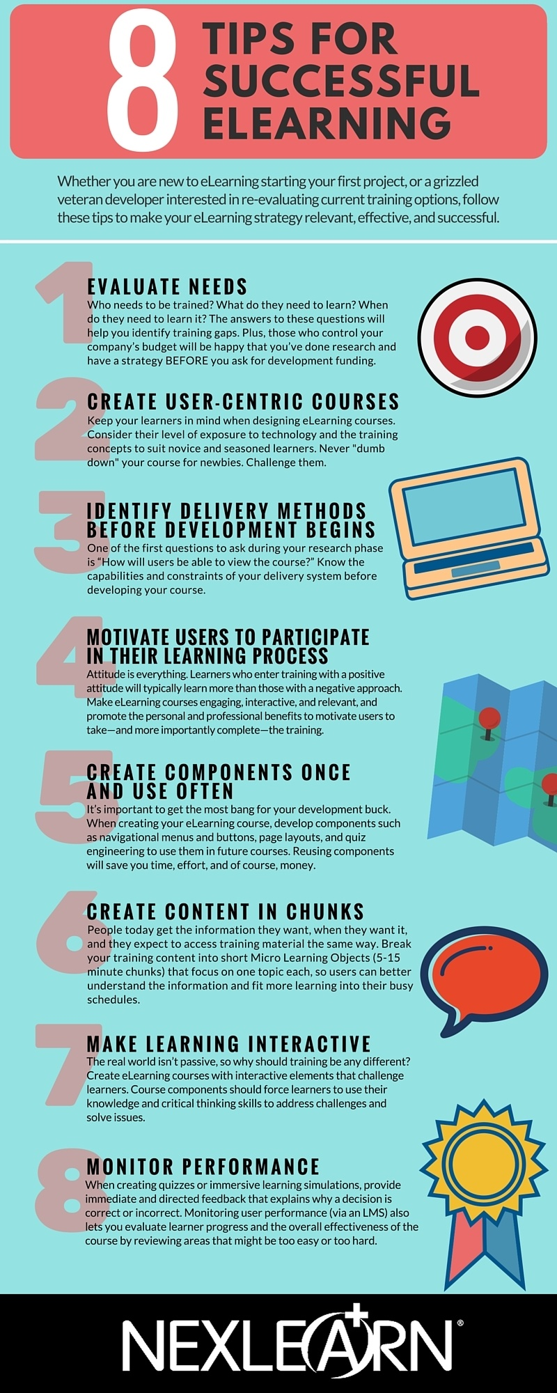 8 Tips for Successful eLearning Infographic