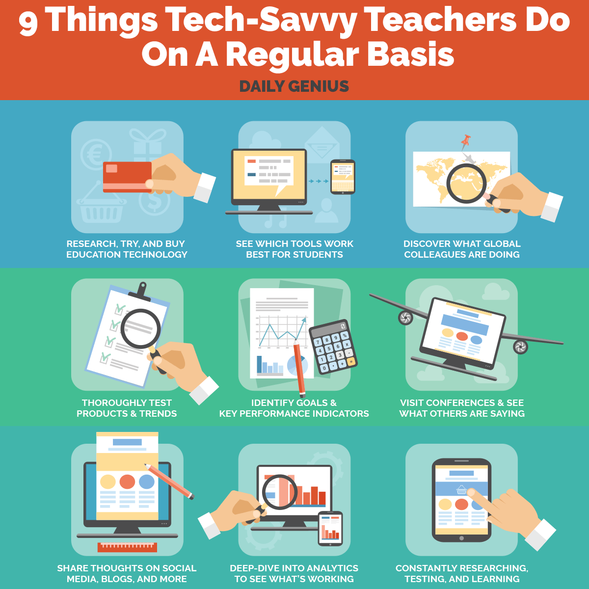 9 Things Tech-Savvy Teachers Do On A Regular Basis Infographic