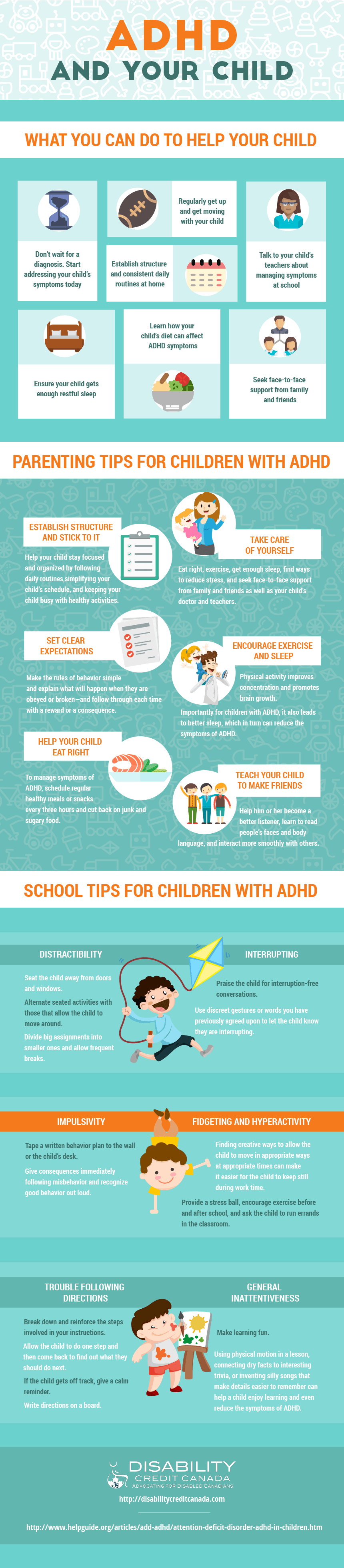 ADHD in Children Infographic