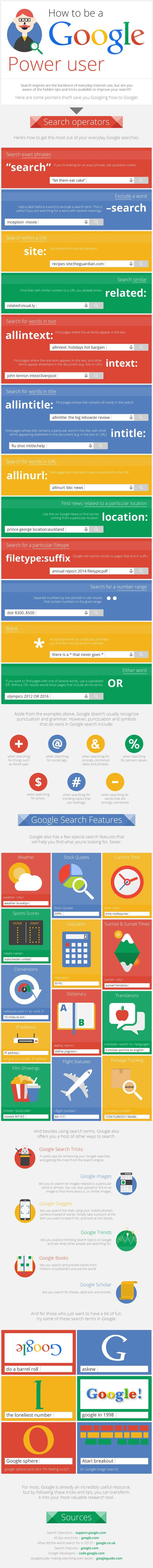 How to Become a Google Power User Infographic