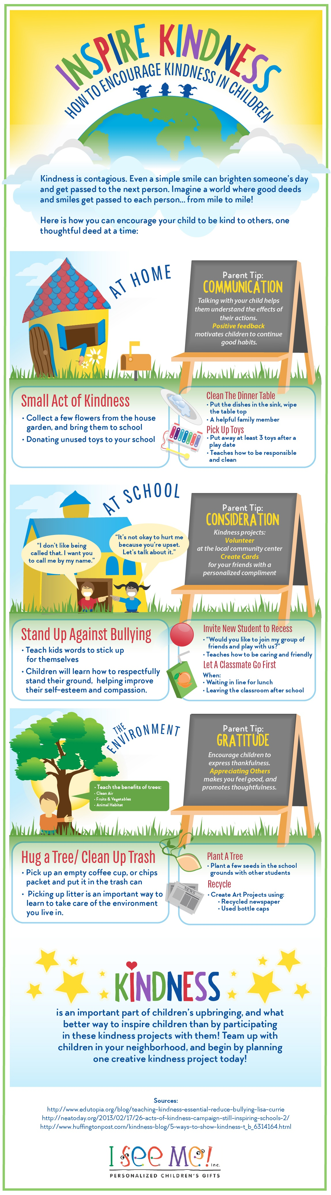 How to Encourage Kindness in Children Infographic