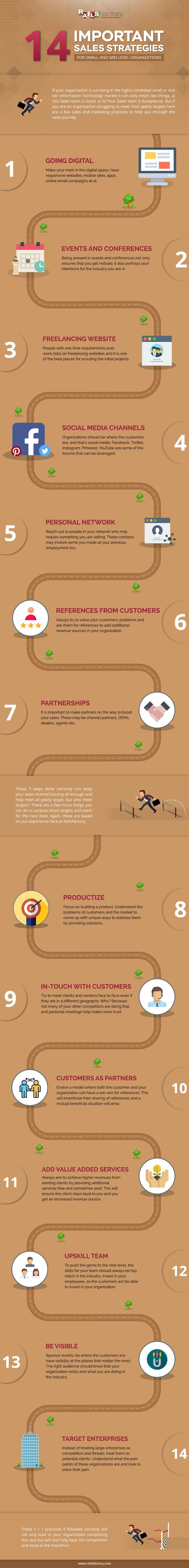 Important Sales Strategies for Small & Mid Level Organizations Infographic