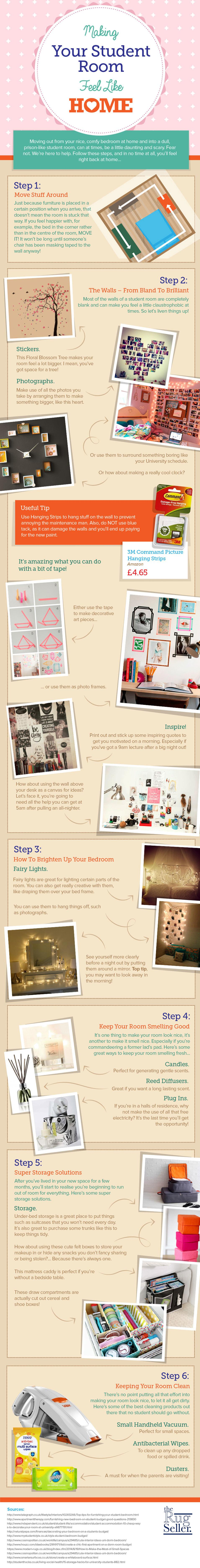 Making Your Student Room a Home Infographic