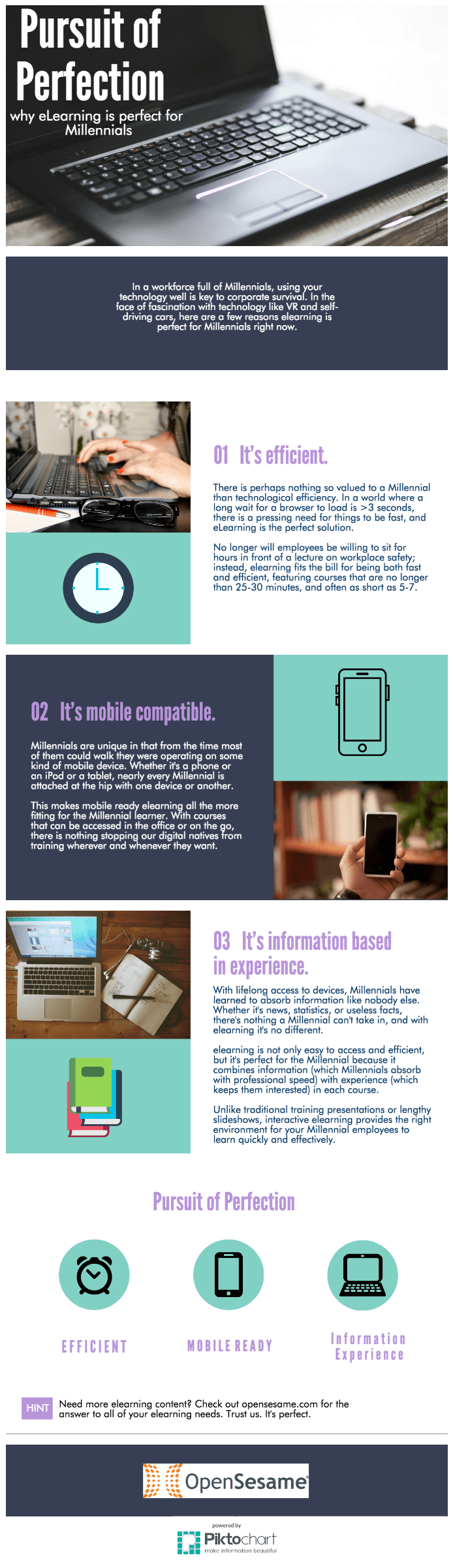 Why eLearning is Perfect for Millennials Infographic