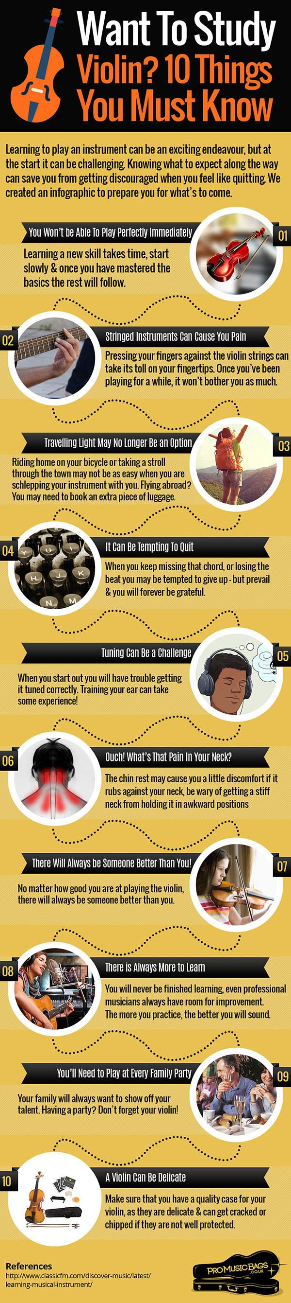 What You Should Know Before Studying Violin Infographic
