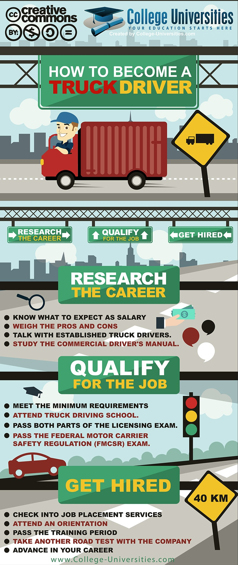 Learn to Become a Truck Driver Infographic
